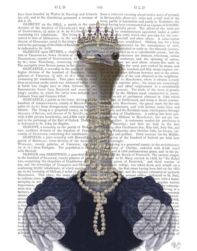 Ostrich and Pearls, Portrait Poster by Fab Funky for $33.75 CAD