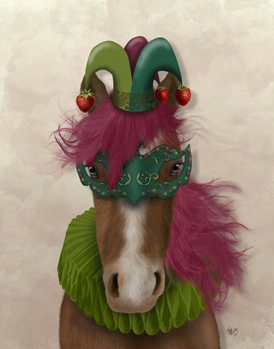 Horse Strawberry Fool Poster by Fab Funky for $33.75 CAD