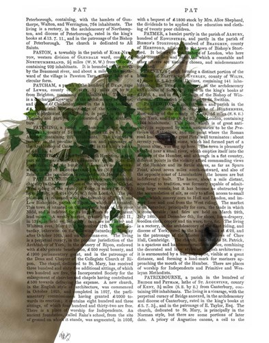 Horse Porcelain with Ivy Poster by Fab Funky for $33.75 CAD