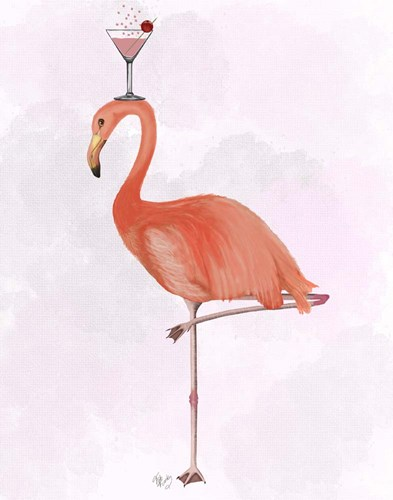 Flamingo and Cocktail 3 Poster by Fab Funky for $33.75 CAD
