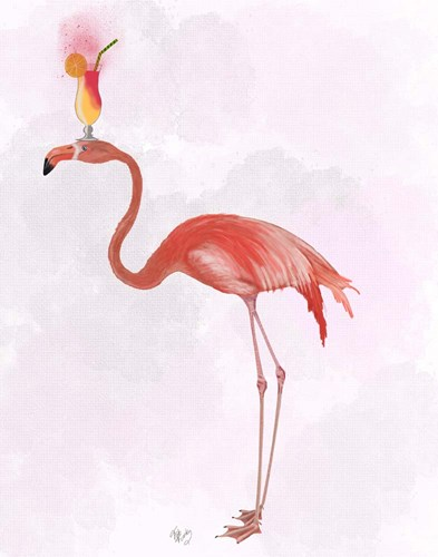 Flamingo and Cocktail 4 Poster by Fab Funky for $33.75 CAD