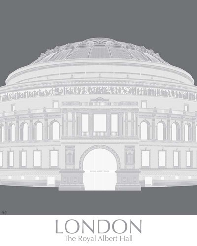 London Albert Hall Monochrome Poster by Fab Funky for $53.75 CAD