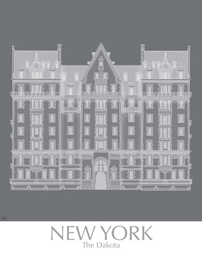 New York The Dakota Building Monochrome Poster by Fab Funky for $53.75 CAD