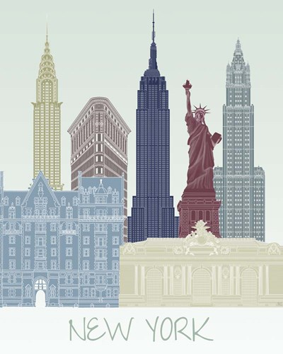 New York Skyline Poster by Fab Funky for $53.75 CAD