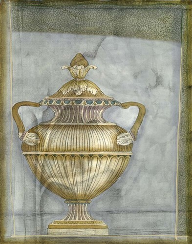 Small Urn And Damask II Poster by Jennifer Goldberger for $38.75 CAD