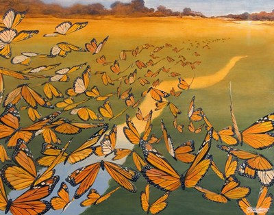Monarch Migration Poster by Fred Szatkowski for $78.75 CAD