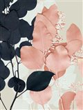 Indigo & Blush Leaves II