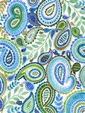 Blue & Green Paisley II