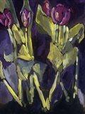 Violet Spring Flowers I