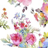 Watercolor Flower Composition I