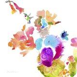 Watercolor Flower Composition IX