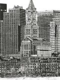 B&W Us Cityscape-Boston