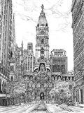 B&W Us Cityscape-Philadelphia