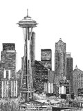 B&W Us Cityscape-Seattle