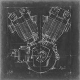 Motorcycle Engine Blueprint III