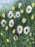 Modern White Floral I