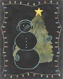 Chalkboard Snowman II