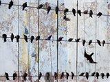 Birds on Wood IV