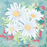 Daisy Patch Teal I