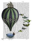 Hot Air Balloon and Birds