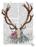 Deer Skull With Flowers 1