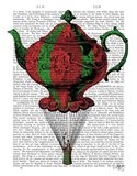 Flying Teapot 2 Red and Green
