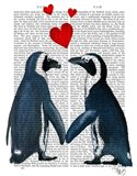Penguins With Love Hearts