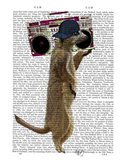 Meerkat with Boom Box Ghetto Blaster