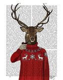 Deer in Ski Sweater