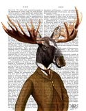 Moose In Suit Portrait