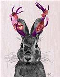 Jackalope with Pink Antlers