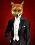 Fox In Evening Suit Portrait