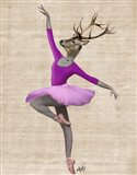 Ballet Deer in Pink II