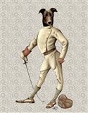 Greyhound Fencer in Cream Full