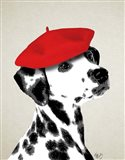 Dalmatian With Red Beret