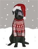 Black Labrador, Christmas Sweater 1
