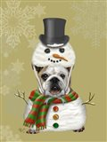English Bulldog, Snowman Costume