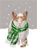 White Cat, Green Scarf