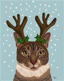 Calico Cat and Antlers