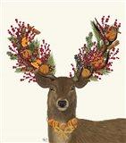 Deer, Cranberry and Orange Wreath