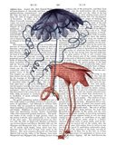 Flamingo and Parasol