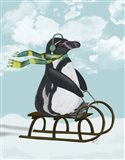Penguin On Sled