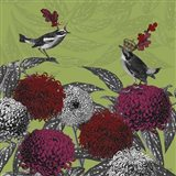 Blooming Birds, Chrysanthemum 1, Fine Art Print