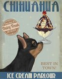 Chihuahua, Black and Ginger, Ice Cream