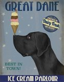 Great Dane, Black, Ice Cream