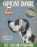 Great Dane, Harlequin, Ice Cream