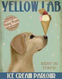 Yellow Labrador Ice Cream