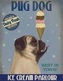 Pug, Fawn, Ice Cream