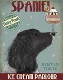Springer Spaniel, Black, Bebe,Ice Cream