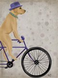 Yellow Labrador on Bicycle